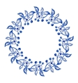 Blue flowers ornament vector image vector image