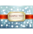 Blue glittering background vector image vector image