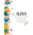 bright invitation with flowers and palm leaves vector image vector image