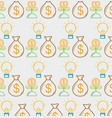 business money liner icon background vector image