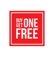 buy one get one free sign square vector image vector image