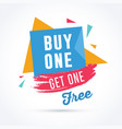 buy one get one free vector image vector image