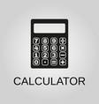 calculator icon calculator symbol flat design vector image