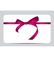 Card with Red Gift Ribbon vector image vector image