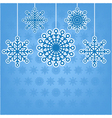 decorative snowflakes postcard with place for tex vector image