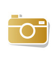 digital photo camera sign golden gradient vector image vector image