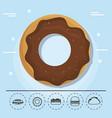 donut for family summer picnic vector image