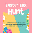easter egg poster design background vector image