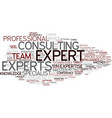 Experts word cloud concept