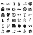 fitness icons set simple style vector image vector image