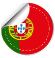flag of portugal in round shape vector image vector image