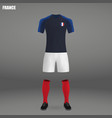 football kit of france 2018 vector image vector image