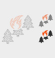 forest fire mesh network model and triangle vector image vector image