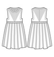 front and back view of a dress vector image vector image