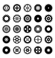 Gear wheel icons set 1 vector image vector image
