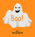 halloween ghost cute smile white ghost spirit vector image vector image