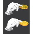 hand and money vector image vector image