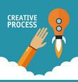 hands in creative process vector image