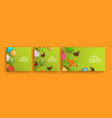 happy easter 3d spring holiday banner set vector image