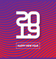 happy new year 2019 brochure design template vector image