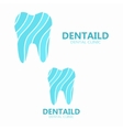 healthy tooth logo dental clinic logo vector image vector image