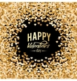 Heart of Gold Glitter vector image