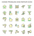 home problem and repair service icon set design vector image