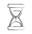 hourglass time instrument vector image vector image