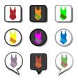 icon logo for set symbols sea suit vector image vector image