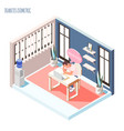 increased fatigue isometric composition vector image vector image