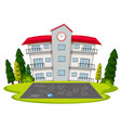 isolated school building template vector image vector image