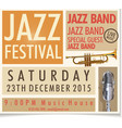 jazz festival poster 3 vector image vector image