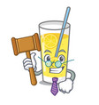 judge lemonade mascot cartoon style vector image vector image