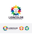 lion color logo design vector image vector image