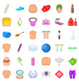 make up icons set cartoon style vector image vector image