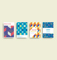 modern abstract geometric covers templates set vector image