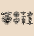motorcycle vintage monochrome designs vector image vector image