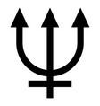 neptune symbol icon black color flat style simple vector image