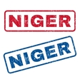 Niger Rubber Stamps vector image vector image