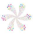 opium poppy cyclonic fireworks vector image vector image