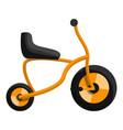 orange tricycle icon cartoon style vector image vector image