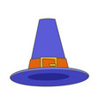 pilgrim blue hat flat icon vector image