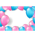 pink and blue balloons vector image vector image