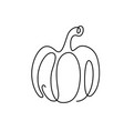 pumpkin drawing continuous line vector image