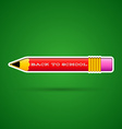 Red pencil sticker with eraser vector image vector image