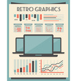 Retro Set of Infographic Elements vector image