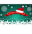 Ribbon with Santa caps on background Christmas s vector image vector image