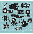 robot characters vector image