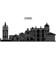 russia tomsk architecture urban skyline with vector image