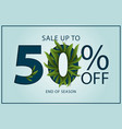 sale up to 50 percent off lettering vector image vector image